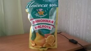 Лимонная кислота для пасты