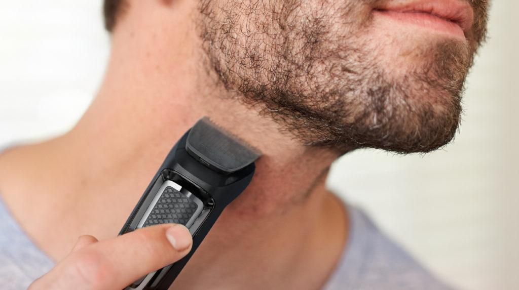 Окантовка бороды триммером